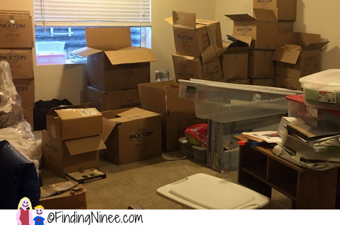 moving messes a party and a soon to be epic box fort finding ninee